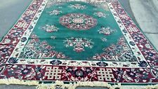 """Capel Rug Floral Type Chinese Size  8' 03"""" x 11'09"""" 100% Wool Dark Green"""