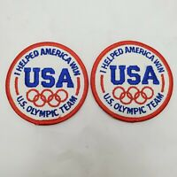 2 - Vintage I Helped America Win US Olympic Team Patch