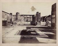 Pompei Italia Vintage Albumina Ca