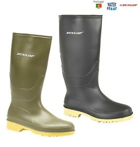 KIDS WELLIES DUNLOP WELLINGTON BOOTS BLACK OR GREEN SIZE 10 11 12 13 1 2 3 4 5