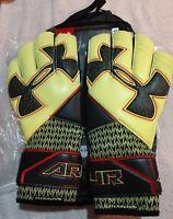 Under Armour Desafio Pro Goalkeeper Soccer Gloves SIzE 10 Clutchfit BlacK/Yellow