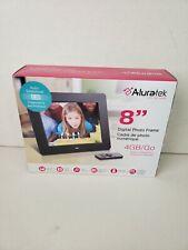 Aluratek ADPF08SF 8 inch LCD Digital Photo Frame - Black NIB Open Box