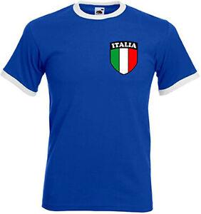 Italy Italian Italia Retro Style Blue National Football Team T-shirt - All Sizes