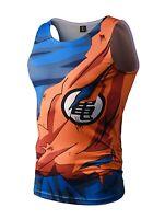 Dragon Ball Goku Tank Top Vest  cartoon costume retro gamer dbz super licensed