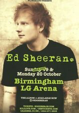 Ed Sheeran A5 Colour October 2014 Birmingham LG Arena Concert Flyer