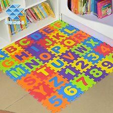 36Pcs Soft Eva Baby Kid Foam Play Mat Alphabet Number Jigsaw Puzzle Interlocking