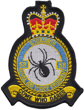 Numéro 58 Escadron Régiment de Raf Royal Air Force Mod Écusson Patch Brodé
