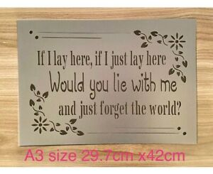 Love Quote Stencil  , A3 Romantic Template Shabby Chic Reusable Wall Craft Decor