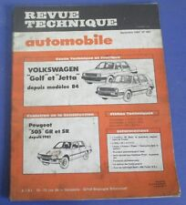 Revue technique automobile rta 447 1984 Volkswagen golf & jetta depuis 84