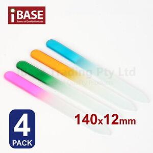 4x Durable Nail File Crystal Glass Buffer Art Files Manicure Device Acrylic Gel