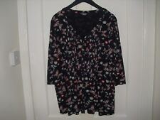 M & Co Tunic Top Size 24 - Dark Navy with Butterfly design