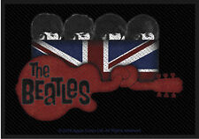 "Beatles - Guitar/Union Jack Patch 10cm x 7cm (4"" x 3 3/4"")  printed"