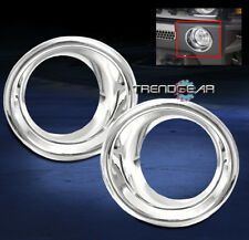 2006-2010 HUMMER H3 BUMPER FOG LIGHT LAMP TRIMS BEZEL COVER MOULDING RING CHROME