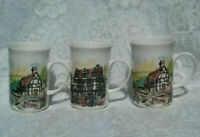 George Bone China Mugs Lot of 3, New, Made in England