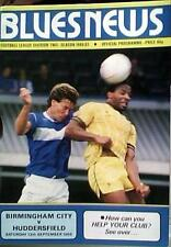 BIRMINGHAM CITY v HUDDERSFIELD TOWN 86-87 LEAGUE MATCH