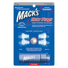 Macks (Mack's) sentire Spine, musicisti Tappi Per Le Orecchie Suono attenuation + CUSTODIA IN ALLUMINIO