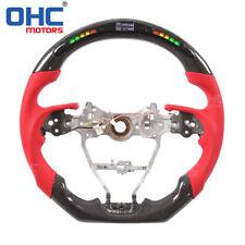 Real Carbon Fiber LED Steering Wheel for Toyota Camry Rav4 Corolla OHC Motors
