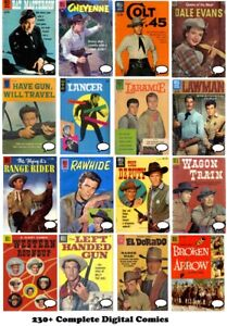 TV WESTERN Comics 230+ issues Gold Age 1950 on Digital DVD Dell RAWHIDE LAWMAN