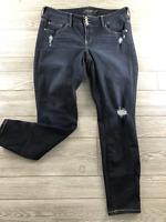 Torrid Womens Jeans Plus 16R Blue Jegging Skinny Dark Wash Button Super Stretch