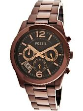 Fossil Women's Perfect Boyfriend ES4110 Brown Stainless-Steel Analog Quartz D...