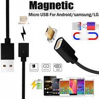 1M 2.4 a Micro USB Cable de Carga Magnético Adaptador Cargador para Samsung