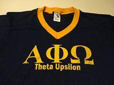 Vintage ALPHA PHI OMEGA Greek Fraternity Sorority T Shirt Theta Upsilon Medium