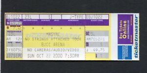2000 NSYNC Unused Concert Ticket Birmingham Alabama No Strings Attached Tour