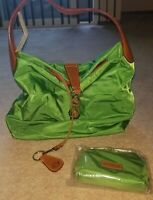 New Dooney & Bourke Nylon Hobo with Logo Lock & Accessories in Kelly Green