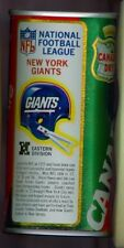 1976 Canada Dry Ginger Ale Soda Pop Can Football NFL League New York Giants NY
