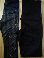 2x bundle pregnant maternity leggins 3/4 shorts ladies womens size 16 size 18