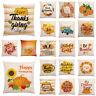 """18x18"""" Fall Pillow Case Autumn Farmhouse Cojines Decorative Throw Cushion Covers"""