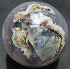 Huge 94mm Natural Geode Agate Quartz Crystal Sphere Ball