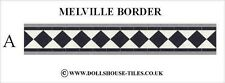 DOLLS HOUSE MINIATURES,DOLLS HOUSE TILES &.FLOORING. MELVILLE ( A ) BORDER PACK