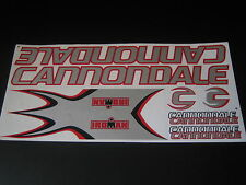 Cannondale Stickers Iroman Silver, Red & Black.