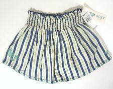 Roxy Girl SplishSplash Skirt sz 7 Blue Striped Cotton NEW $36 RM55096
