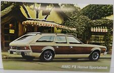 WOODY HORNET SPORTABOUT STATION WAGON 1974 AMC DEALERSHIP DEALER PROMO POSTCARD