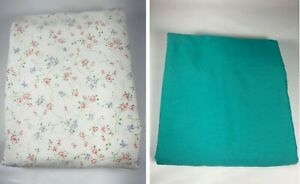 NoJo Kids Line Crib Sheet Green Sugar and Spice Shabby Chic Flowers Lot of 2