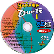 Karaoke CD+G 3 Disc Set Chartbuster 5025 Duets vol-1  in Case with Song List