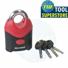 Amtech Heavy Duty Padlock 70mm Safety Security Lock with 4 Keys Garage DIY T0740
