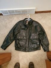 MEMBERS ONLY LEATHER JACKET, quilted and lined. XL, soft black leather