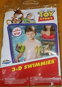 Disney Pixar Toy 3-D Swimmies Kids Safety Water Protection Floaties 3-5 Yrs