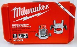 Milwaukee 5616-24 BodyGrip Multi-Base 2-1/4-HP Router Kit