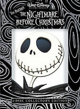 The Nightmare Before Christmas (DVD, 2-Disc Set, Collectors Edition) + Slipcover