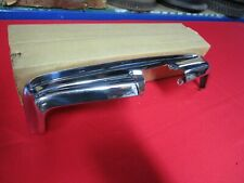 1950 FORD CAR DELUXE TRUNK LID MOLDING LICENSE PLATE SURROUND NOS CHROME