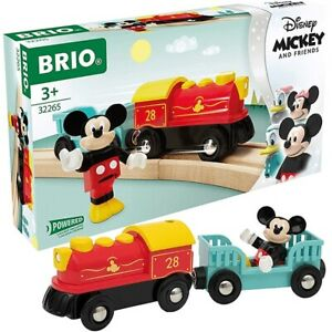 Brio World Wooden Railway Disney Mickey Mouse Battery Powered Train #32265, New