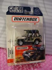 2018 MATCHBOX Globe Travelers JEEP WRANGLER☆gold-sand;rubber☆65th Anniversary