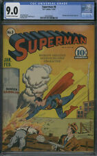 D.C. Comics Superman #8 Off-White to White Pages CGC 9.0 (All Star #3)