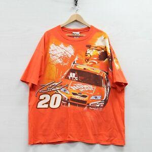 Vintage Tony Stewart #20 Home Depot Chase Racing T-Shirt Size 3XL Orange NASCAR
