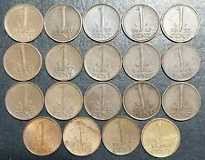 NEDERLAND Coins 19 @ 1 CENT. RUN OF THE YEARS (1948-1967) 12 different years