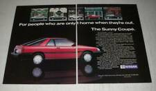 1987 Nissan Sunny SLX Coupe Ad - For people who are only at home